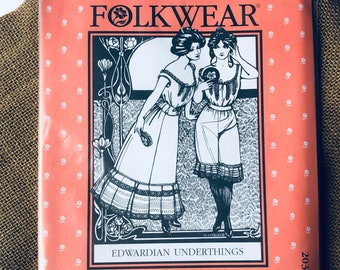 "NEW Edwardian Underthings Camisole, Drawers & Petticoat Paper Sewing Pattern // Folkwear #203 // Womens xs - 3xl / Bust 30 1/2"" - 54""/ UNCUT"