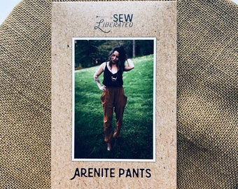 """NEW Sew Liberated #117 The """"Arenite"""" Pants Paper Sewing Pattern  Size 0 - 24 Waist 25"""" - 41 1/2"""" // Deep Pocket Slouchy Pants Versatile Cozy"""