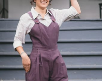 """NEW Folkwear #240 """"Rosie the Riveter"""" Paper Sewing Pattern 1940's High Waist Pants, Coveralls, Knit Sweater, Camp Shirt, Crochet Snood"""