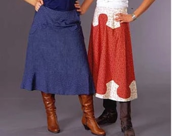 """NEW Folkwear #243 Authentic Rodeo Cowgirl Maxi Skirt Paper Sewing Pattern - A-Line with Shaped Waistline Waist 23"""" - 44"""" // UNCUT"""
