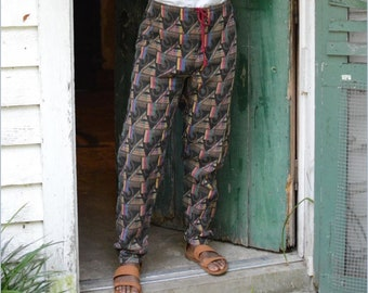 """NEW Folkwear #119 Men's/Women's Sarouelles Pants Paper Sewing Pattern from Turkey, Africa/India Comfortable & Chic Hip: 33"""" - 46"""" // UNCUT"""