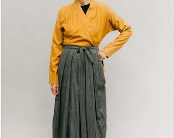 NEW  Folkwear #151 Mens/Womens Japanese Hakama & Kataginu Paper Sewing Pattern - Kamishimo Pleated-Front Vest/Pants/Skirt /One Size / UNCUT