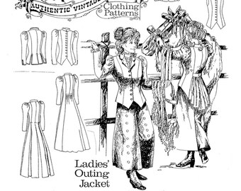 NEW Buckaroo Bobbins Ladies' Outing Jacket Authentic Vintage Western Paper Sewing Pattern Size 8 - 20 Two Long Coats/Three Jackets/Vest