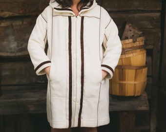 """NEW  Folkwear #153 Mens/Womens Siberian Parka Coat Paper Sewing Pattern - Easy to Sew Pullover Jacket /// Bust/Chest 31 1/2"""" - 44"""" // UNCUT"""
