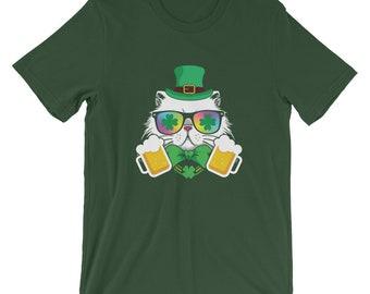 89849ac20 St Patricks Day Cat Beer Funny Kitten T-Shirt Pub Crawl