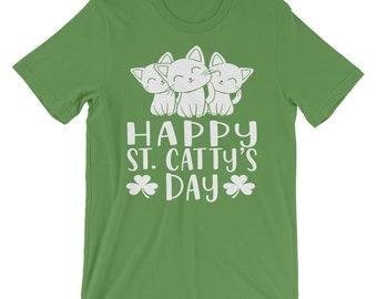 3eb909391 St Patricks Day Cat Funny Kitten T-Shirt