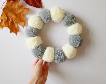 Full pom pom wreath