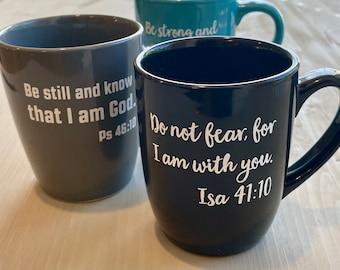 Bible Verse | Coffee • Tea • Cocoa Mug | Custom | Stoneware Mug | Made to Order | Holiday | Christmas Gift | Jesus | Inspirational