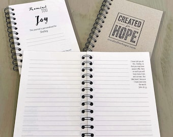 Remind You Joy | Journal | Personalized Scriptures | Made to Order | Unisex Gift | All Occasion | Jesus | Inspirational