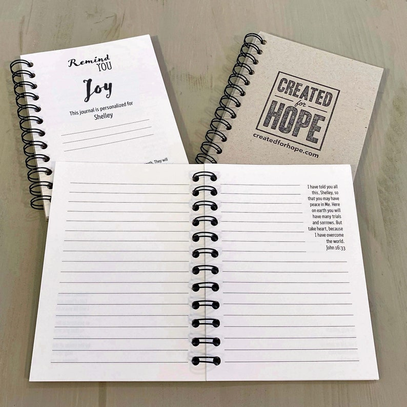 Remind You Joy  Journal  Personalized Scriptures  Made to image 0