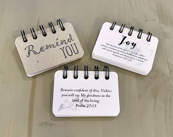 Remind You Joy | Booklet | Custom Personalized Scriptures | Made to Order | Unisex Gift | All Occasion | Jesus | Inspirational