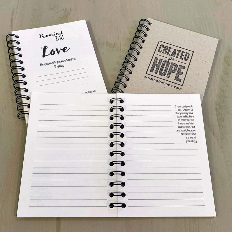 Remind You Love  Journal  Personalized Scriptures  Made to image 0