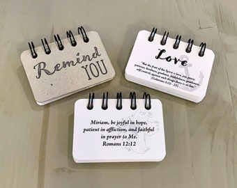 Remind You Love | Booklet | Custom Personalized Scriptures | Made to Order | Unisex Gift | All Occasion | Jesus | Inspirational
