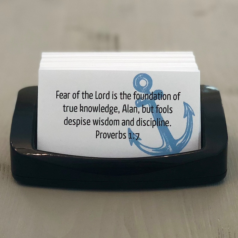 Anchor  Custom Personalized Scripture Cards  Made to Order  image 0
