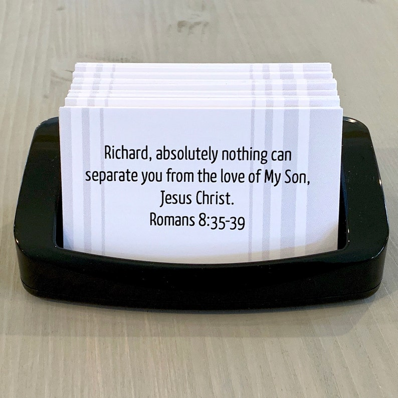 Stripes  Custom Personalized Scripture Cards  Made to Order image 0