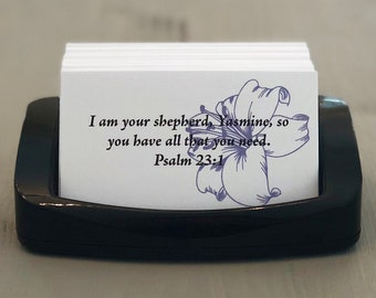 Lily | Custom Personalized Scripture Cards | Made to Order | Bridal Gift | Christmas | Birthday Gift | Jesus | Inspirational