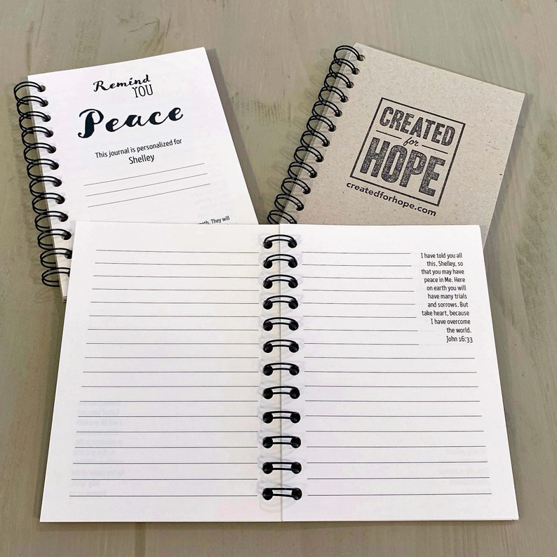 Remind You Peace  Journal  Personalized Scriptures  Made to image 0