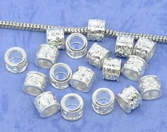 5 Perles Intercalaire à motif arabesque