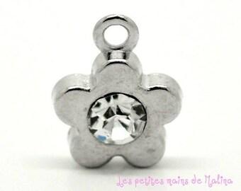 Flower Rhinestone Charm pendant