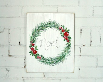 Noel - Hand Painted Wood Sign