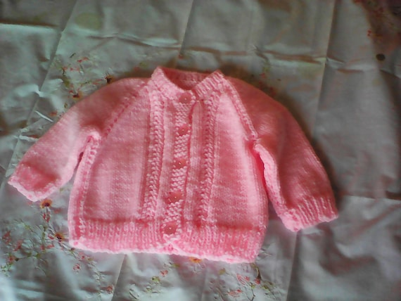 Handmade Baby Sweater 6 Months To 12 Months 100 Acrylic Etsy