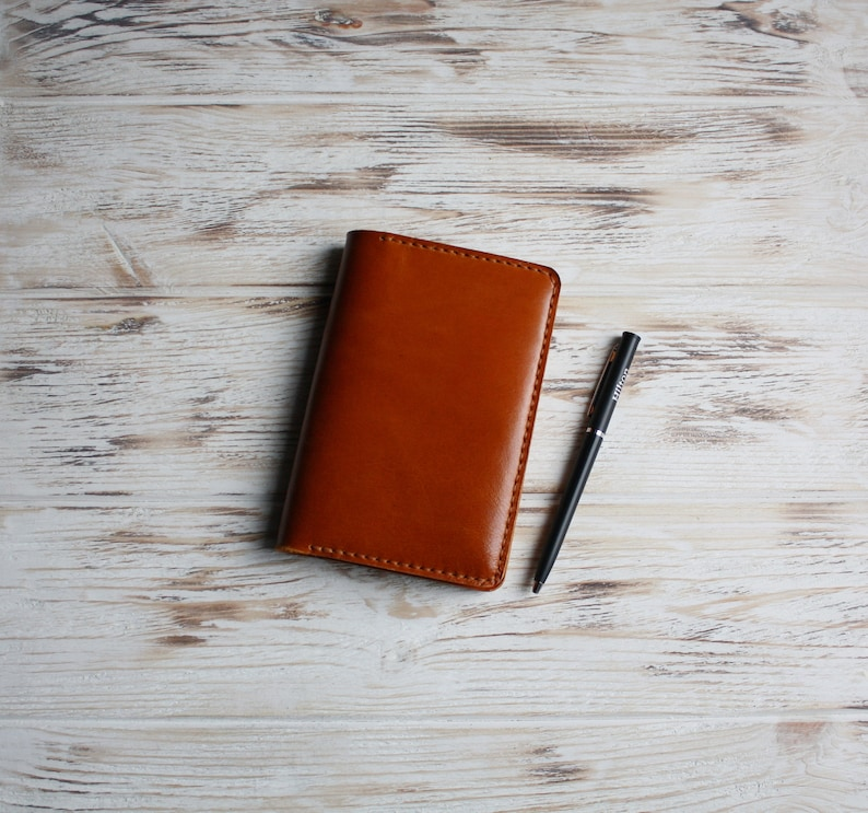 Brown leather pocket Moleskine cover / Field notes cover ...