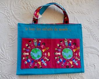 Turquoise artist bag children world no. 1