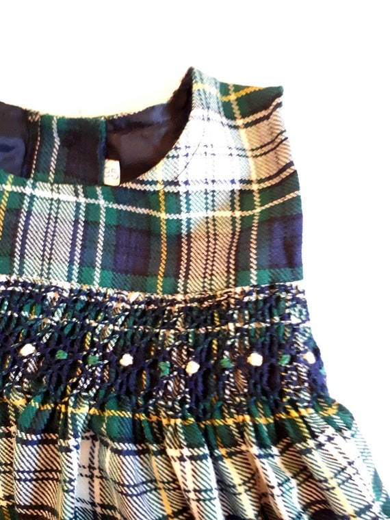 1 year old retro and vintage 1980 baby dress with
