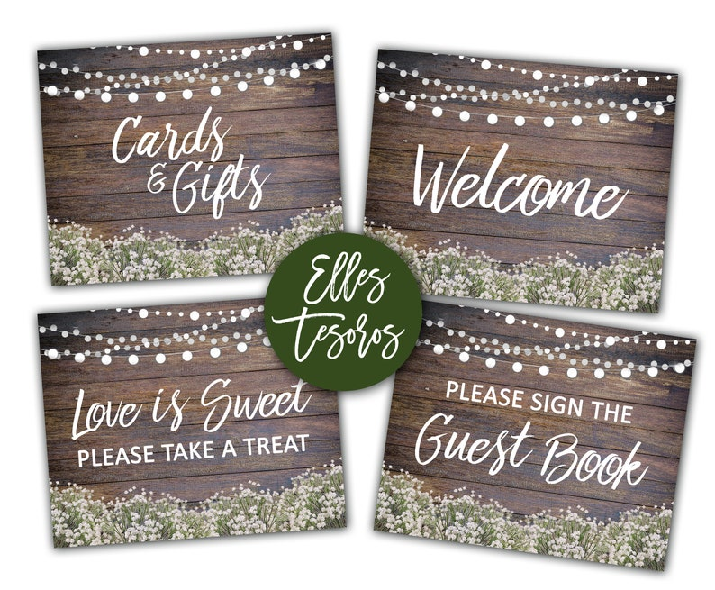 Rustic Bridal Shower Games and Signs Printable Bridal Shower Bundle Bridal Shower Games Bridal Shower Signs Package Rustic Instant Download