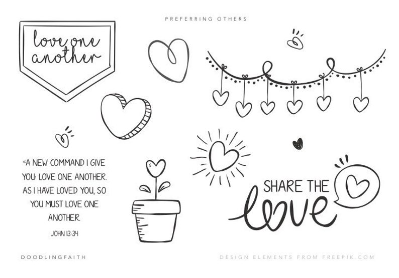 photograph relating to Love One Another Printable titled Get pleasure from Just one One more Printable for Bible journaling Doodling Religion