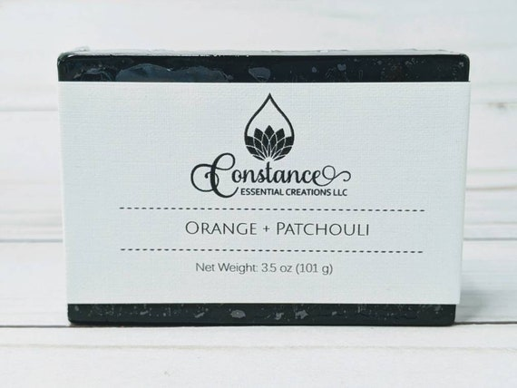 Orange Patchouli  bath bar with Activated Charcoal