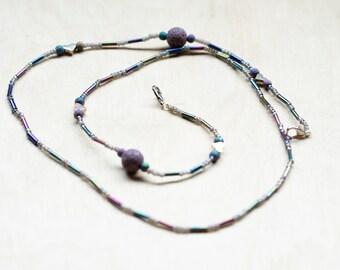 Mask Chain, Glasses chain, Valentines Day Mask Chain, Valentines Day glasses Chain, Beaded Mask Chain, Beaded Glasses Chain, purple beaded