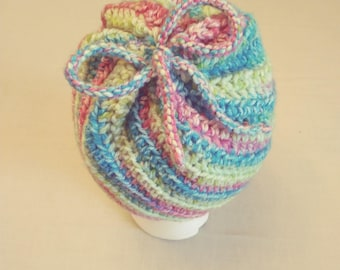 Multi color Crochet hat,warm for winter,Free shipping