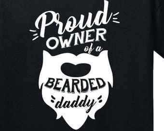 Baby Onesie Proud Owner Of A Bearded Daddy Beard Mustache Dad