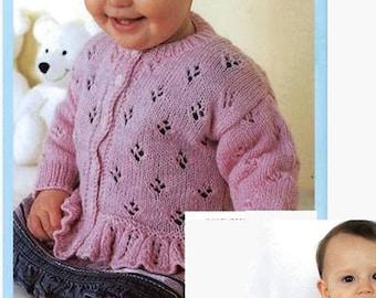 Lorna Baby Cardigan in 5 sizes (Birth - 3 YEARS)