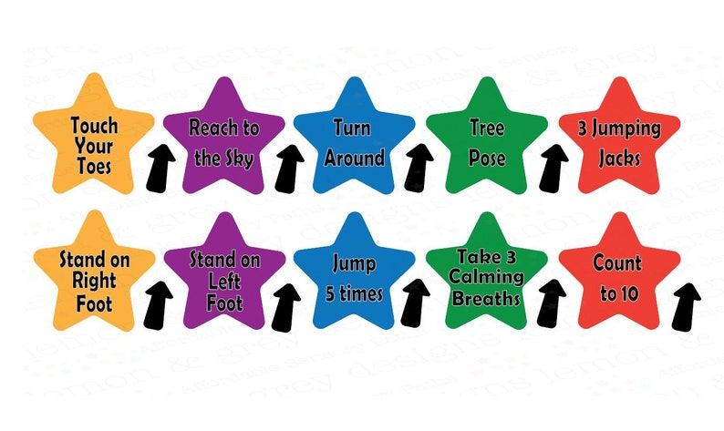 Outdoor Sensory Path Outdoor Action Star Decals | Sensory Hallway Sensory Path Decals