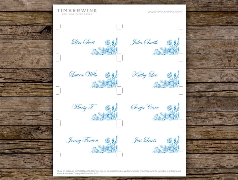 Vintage Wedding Escort Cards Name Cards Download Place Card Template Guest Name Cards Printable Place Cards Table Setting Cards