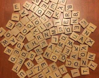 Individual Scrabble Tiles, Pick Your Letters