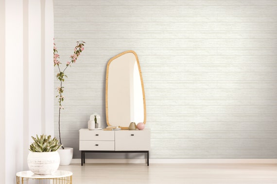 Reclaimed Wood Gray White Shiplap Peel And Stick Wallpaper Kitchen Backsplash Removable Waterproof Bathroom Modern Vinyl Washable 30 75 Feet