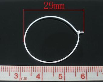 BO45 set of 10 rings hoop earrings 29x25mm