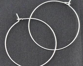 BO40 set of 10 rings hoop earrings 40x35mm