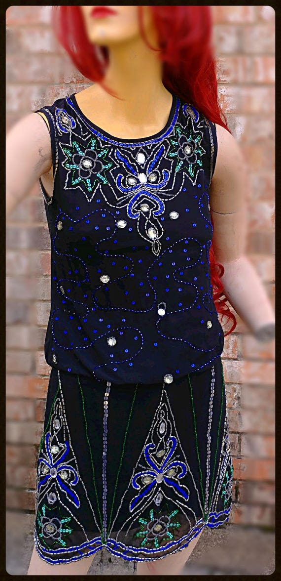1920's Flapper styled Frock & Frill sequin dress