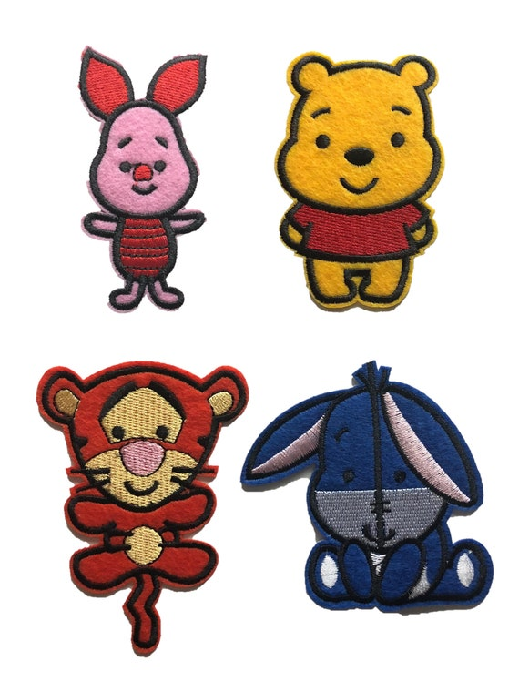 Winnie the Pooh /& Friends Embroidered iron-on or Sew-on Patches Choice of Design