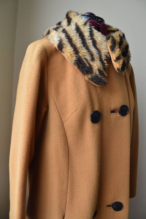Easy Tiger Coat ~ Vintage 60's mustard and tiger p