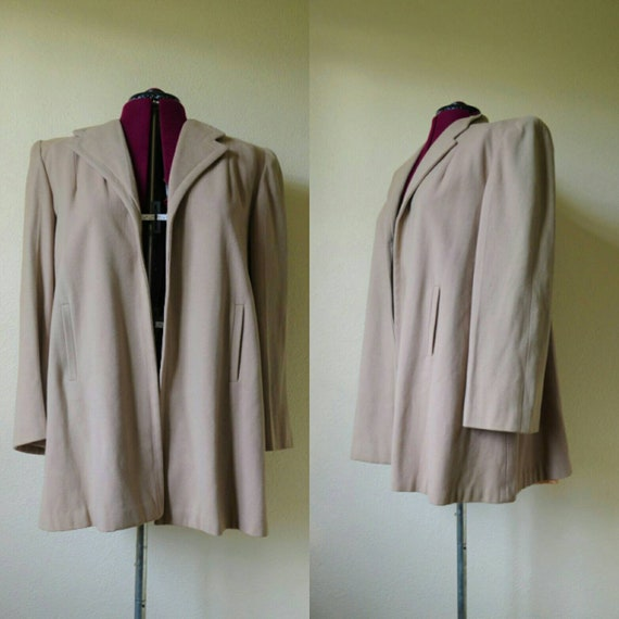 Vintage 1940's wool swing coat swing jacket 40s mi