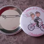 Special wedding pair of cookies pin badges