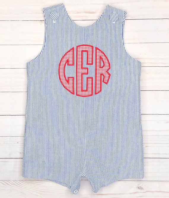 4th of July outfit white and blue romper Patriotic jon jon Beach romper Red free personalization Wedding shortall