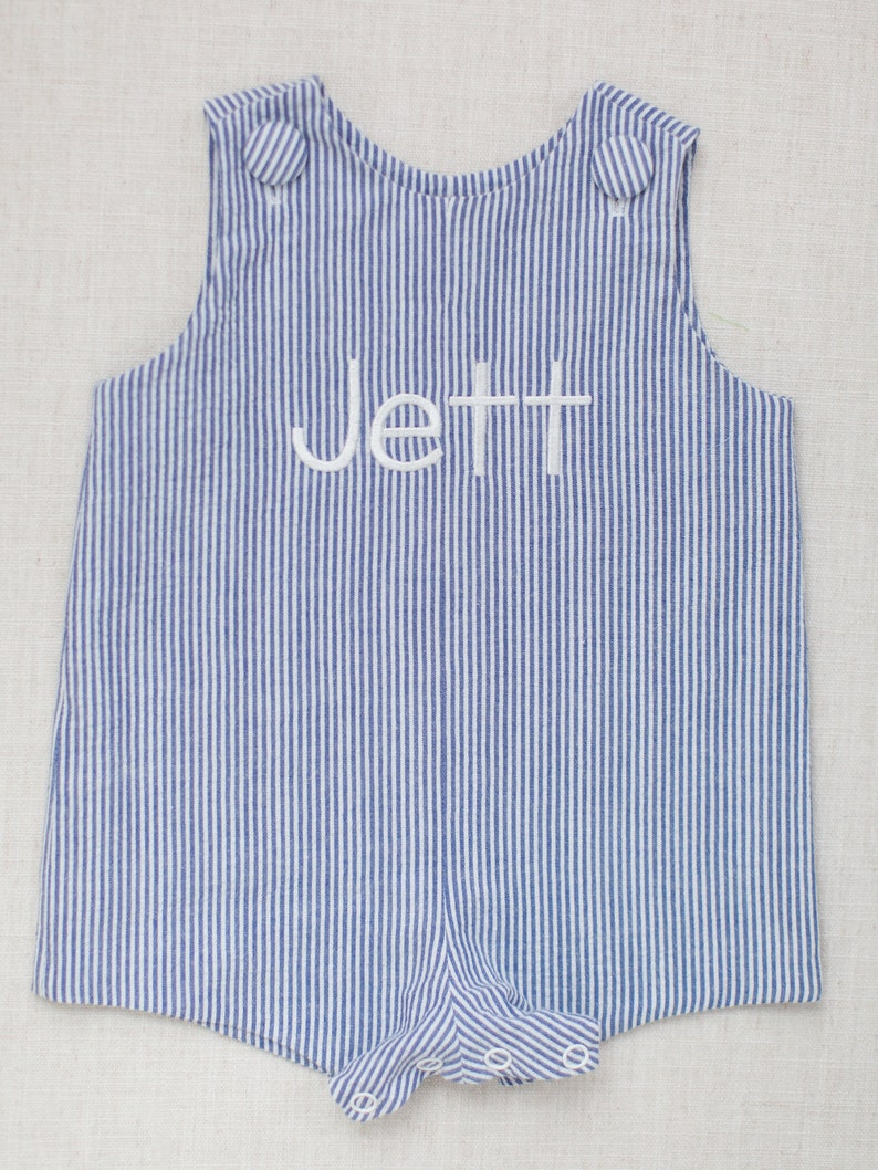 83497a8196c9 Baby boy toddler blue stripe seersucker john john special | Etsy