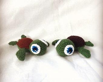 Turtle Friends, Amigurumi, Handmade, Gift