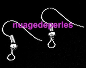 30 hooks Supports Silver Earring hooks